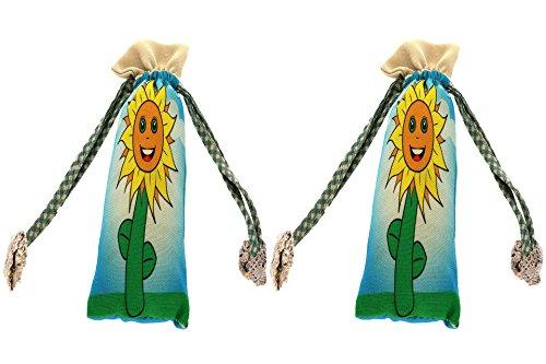 Preisvergleich Produktbild Natürlicher Schuh Deodorisierer und Geruch Vernichter für Schuhe – Absorbiert Feuchtigkeit – Duft Zwei Bambus Kohle Lufterfrischer Sonnenblumen Design
