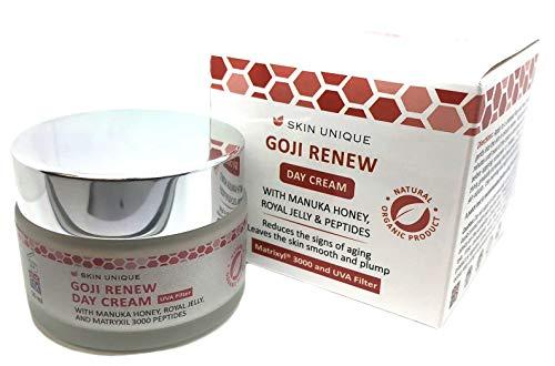 Goji erneuern Tagescreme 50 ml - Natürliche & organische Anti-Aging Gesichts-Feuchtigkeitscreme und...