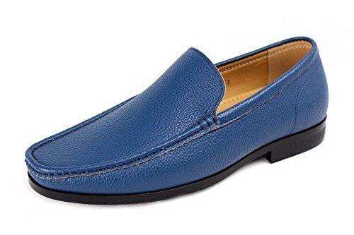 Bateau De Mens À Enfiler Décontracté Chaussures Bateau Smart Cuir Office Concepteur De Conduite Mocassins Bleu