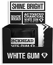 Blockhead White Gum | Actieve houtskool | Helpt met vlekverwijdering | Beschermt tanden | Bevat calcium, xylit