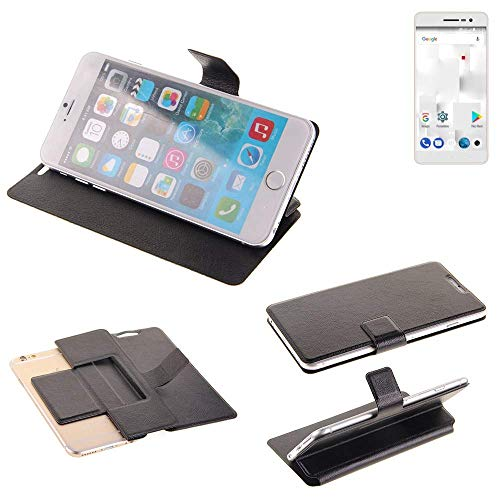 K-S-Trade Schutz Hülle für Thomson Delight TH201 Schutzhülle Flip Cover Handy Wallet Case Slim Handyhülle bookstyle schwarz