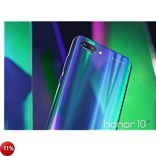 Honor 10 Smartphone, Verde, 4G LTE, 128GB di Memoria, 4GB RAM, Display 5.8