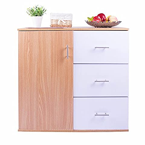 BTM Storage Cabinet With 3-drawer and 1-shelf In Kitchen and Home (Multi)