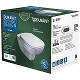 Duravit WWC-Set D-Code, rimless, Durafix TS,weiß, inkl.WC-Sitz mit Absenkautomatik, 45700900A1