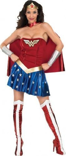 Wonder Woman Ladies Fancy Dress Costume Medium UK 12-14 by RubieÃ'´s (Kostüme Dress Uk Fancy Halloween Womens)