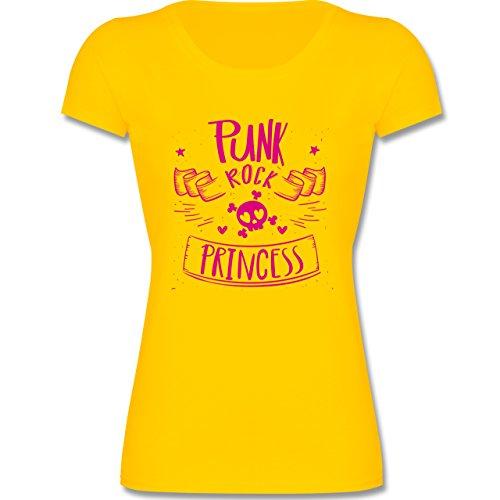Sprüche Kind - Punk Rock Princess - 164 (14-15 Jahre) - Gelb - F288K - Mädchen T-Shirt (Punk-rock-mädchen)