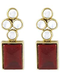 Karatcart Designer Modern Kundan Earrings For Women
