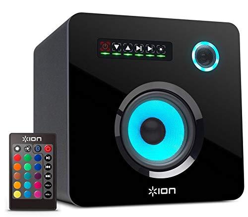 ION Audio Flash Cube   Bluetooth Lautsprecher mit Fernbedienung und anpassbarer Beleuchtung - Bluetooth Flash