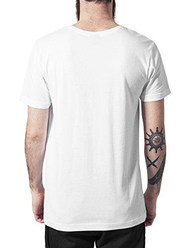 Urban Classics Herren T-Shirt Contrast Pocket Tee Mehrfarbig (wht/aztec 712)