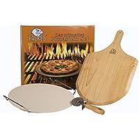 El innovador juego de piedra para pizza para horno y barbacoa. Para una crujiente pizza como de los mejores cocineros italianos.