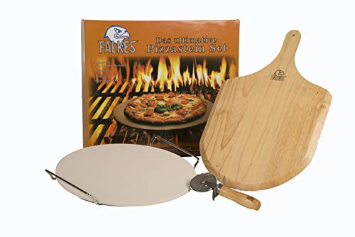 The ultimate pizza stone set for ovens and barbecues. For crisp pizza from the great Italians.