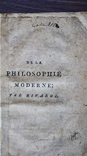 DE LA PHILOSOPHIE MODERNE.