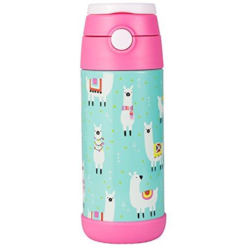 Snug, borraccia thermos per bambini, bottiglia termica con cannuccia Llamas