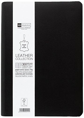 basicos-mr-10410-flexible-piel-cuaderno-4-300-hojas-cuadricula-con-indice-con-goma-color-negro