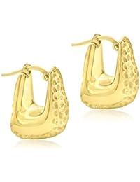 Carissima Gold Damen-Ohrringe 9 k (375) 2-farbiges Gold