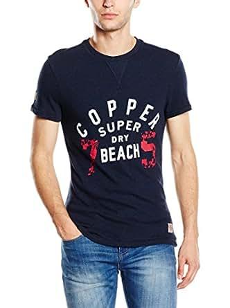 Superdry Men's T-Shirt (5054126549672_M10KT001_XL_Deep Indigo Grindle)