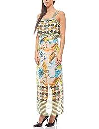 B.C. Best Connections Sommerliches Maxikleid Kleid Kurzgröße Sommerkleid  Bunt b640aaa99d