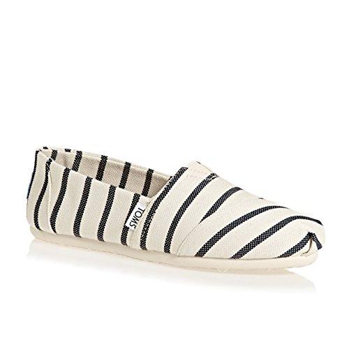 TOMS Classic Damen Schuhe Weiß - Damen Weiß Loafers Schuhe