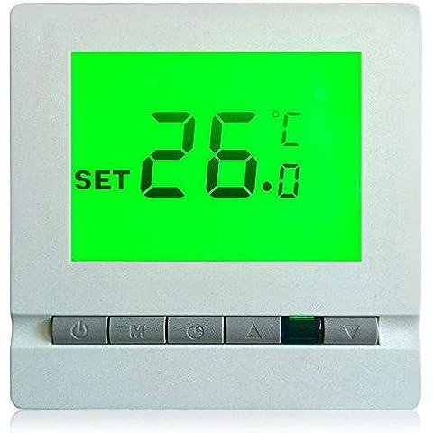 Yuver (TM) BYC03 wireless Riscaldamento Termostato con telecomando a cristalli liquidi di controllo del regolatore di temperatura del termometro sensore Meter Termometro digitale