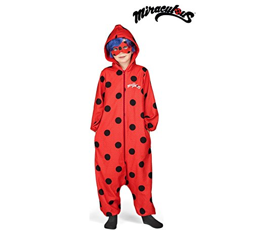 Imagen de disfraz de miraculous ladybug pijama con peluca para niña