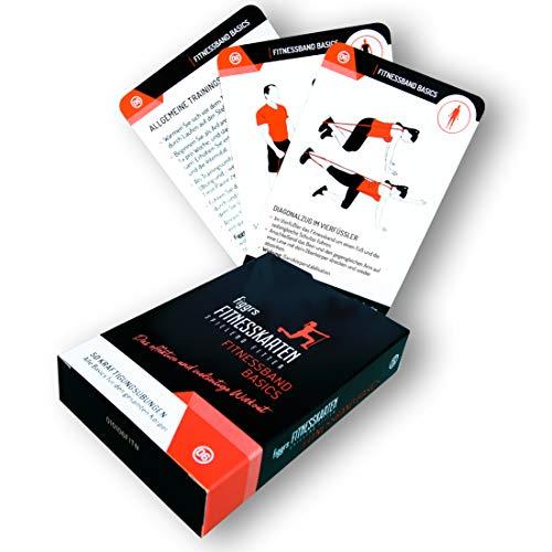 figgrs Trainingskarten Fitnessband Basics (50 effektive Übungen für den gesamten Körper) - Theraband Übungen