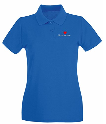 Cotton Island - Polo pour femme TLOVE0130 i love heart monterotondo Bleu Royal