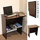 Spacecrafts Wooden Folding Computer Table Mate for Laptop Study Office Desk (Standard, Brown)
