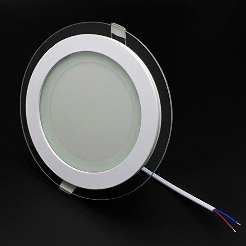 BAODE 6/12/18W LED Panel Leuchte Glas Dimmbar Rund Deckenlampe Deckenleuchte Einbaustrahler (12W/Nicht Dimmbar, Neutralweiß)