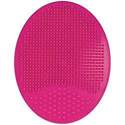 Gugzy Facial Cleansing Pads, Soft Silicone Face Scrubbers Exfoliators Face Cleansing Tool, Perfect for Massage, Washing Pore Cleanser, Blackhead Removing, Exfoliating and Baby Shower (Pink)