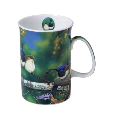 Ashdene Birds - rustic garden Wrens Fine Bone China Cup Mug Porzellantasse Tasse Becher tazza taza 11cm 300ml, Gift box, best quality, ASHDENE, Australia Bone China-box
