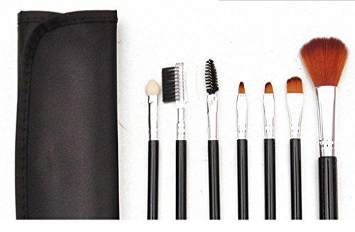 Cexin professionel 7 pinceaux de maquillage exquis avec trousse 5 couleurs