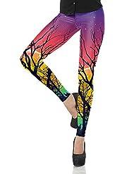 Pantalons De Yoga Fitness Arbre Aurora Impression NuméRique éTait Mince Leggings Stretch LNAG