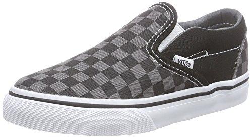 Vans Toddlers Classic Slip-ON Low-Top Mehrfarbig (Black/Pewter Ch BPJ) 26.5 EU