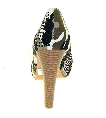 1TO3 - Peep toes en tissu camouflage Multi-couleur