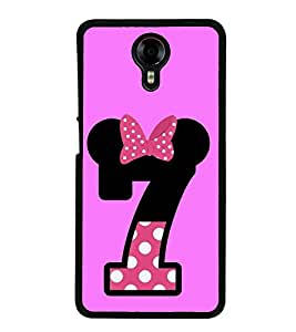 PrintVisa Number 7 Seven High Glossy Designer Back Case Cover for Micromax Canvas Xpress 2 E313