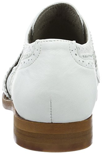 Hudson London Damen Maddie Calf White Brogues Weiß (white)