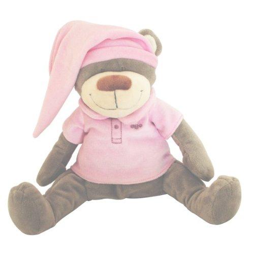 Babiage Doodoo Einschlafhilfe Bär Rosa - Kuscheltier Mit Mutterleibstöne Die Beruhigen ein Neugeborenes