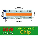 50W 110x40mm, 380-840nm : COB LED Chip Phyto Lamp Full Spectrum 20W 30W 50W LED Diode Grow Lights fitolampy for Seedlings Indoor DIY Hydroponics 110V 220V