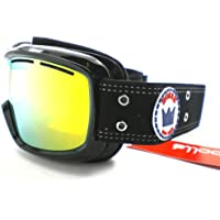 dee12001434c Bolle Monarch Ski Snowboarding Goggles - Black Crown with Citrus Gold  Mirror Lens Cat.3