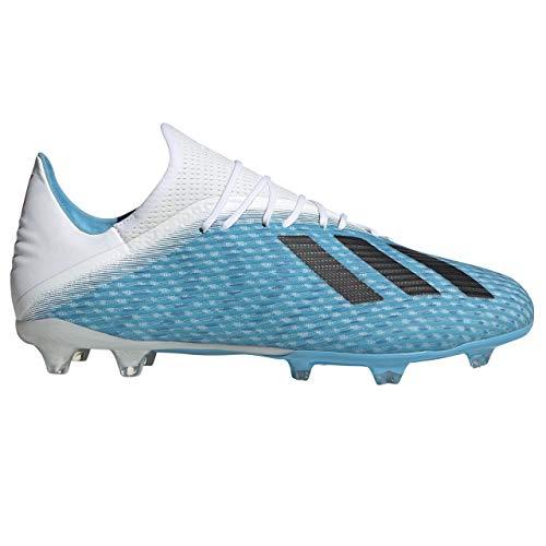 adidas Herren X 19.2 Fg Fußballschuhe, Blau Bright Cyan/Core Black/Shock Pink, 45 1/3 EU