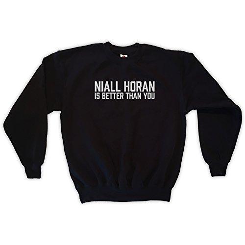 Outsider. Herren Unisex Niall Horan is Better Than You Sweatshirt - Schwarz - S