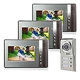 Dreifamilienhaus Farb Video Türsprechanlage 3 Monitore 1 Aussenstation