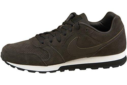 Nike Md Runner 2 Cuir Prem, Sneaker Uomo Multicolore (marron / Blanco / Negro (vlvt Brown / Vlvt Brwn-blk-white-))