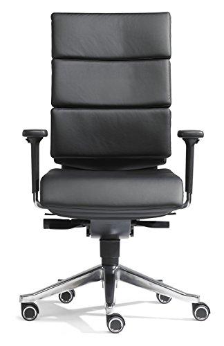 SITWELL GERNOT STEIFENSAND Design-Bürostuhl Dream-Office mit Armlehnen, Synchron-Mechanik, Alu-Fußkreuz, hochwertiges Rindsleder, schwarz thumbnail