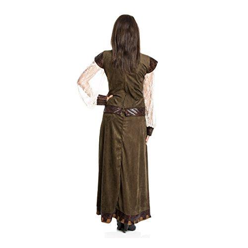Kostümplanet® Lady Marianne Robin Hood Damen Kostüm Kleid Größe 40/42 - 3