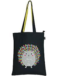 Eono Essentials 100% Cotton/Canvas, Reusable, Tote Bag with Zipper Printed Bamboozled Panda