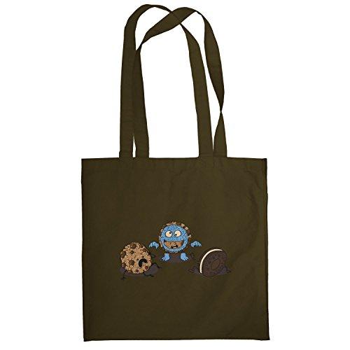 Texlab–Mostro Prank Cookie–sacchetto di stoffa Marrone