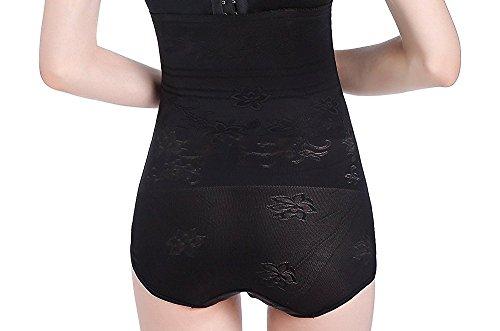 MISS MOLY Miederslip Mit Bauch-weg-effekt|Figurformende Shapewear Damen Schlankere Taile Im Kleidern Schwarz/Beige Modell1 Schwarz