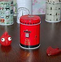 GUOQY-boîte de Cuisine de Famille de Coffret de thé de Couleur, boîte de Rangement Double de Couvercle de Cylindre, Coffre à café