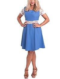 Susana Escribano V002, Vestido Casual para Mujer, Azul, 54 EU